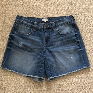 Distressed J Crew Denim Cutoff Jean Shorts